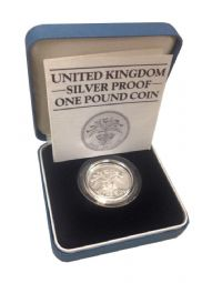 1985 Silver Proof One Pound Coin for sale